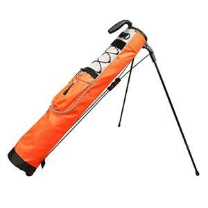 GGGJ Sac de Support de Golf léger Facile à Transporter Pitch Idéal pour Parcours de Golf et Voyage 80cm x 76cm,Orange