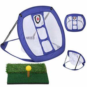 Golf Net-Golf Pratique Ensemble Pelouse Ballons De Matelas Ballons PU T-Shirt Frappe Net Intérieur Entraînement Extérieur (19,7 X 31,5 X 24.8in)