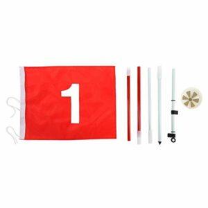 Golf Putting Green Flagpole, 5 Sections Amovibles Putting Green, pour Les Amateurs de golfeurs débutants Clubs de Golf intérieurs/extérieurs