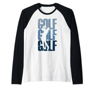 Golf vintage | Golfeur Manche Raglan