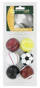 Golfers Club ST20NGB01 Lot de 6 balles Mixte Adulte, Multicolore