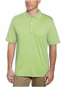Greg Norman Signature Series Men's ML75 Play-Dry Polo Shirt Heather Green M