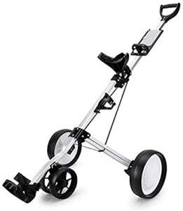 H-BEI Chariot de Golf Chariot de Golf en Alliage d'aluminium Conception Pliante Facile à Ranger Matériau en Alliage d'aluminium Stable et Durable Silencieux et résistant à l'usure Convie