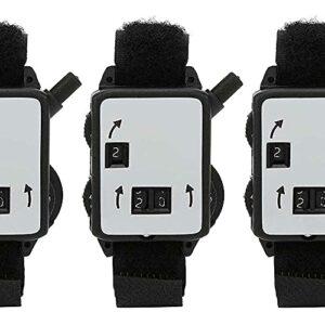 junmo shop Compteur de course, compteur de score simple et efficace, type de montre, 3 compteurs de score pratiques à porter pour les amateurs de maison