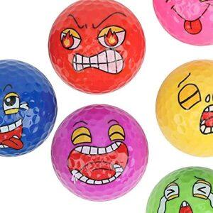 junmo shop Lot de 6 balles de golf fantaisie pour jeu de balles de golf – Motifs uniques et amusants