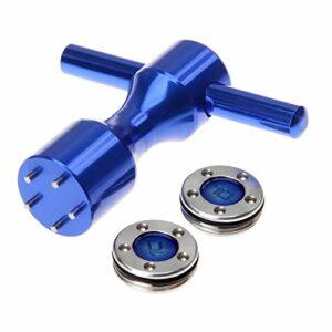 KAIBINY clés 1set Golf Putter poids + Clé FOR FOR TITLEIST FOR FOR Scotty Cameron Putter Bleu 1pc Clé Golf + 1 Poids Paire Livraison gratuite (Color : Blue 15G)