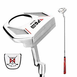 KOFULL Putter de golf pour homme droitier avec fonction balles de ramassage