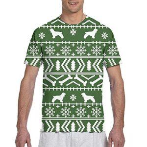 Kteubro T-shirt de golf à manches courtes pour homme Motif cocker Spaniel de Noël – Multicolore – Medium
