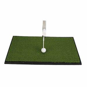 LBJN Entraîneur de Putting de Golf Intérieur Rotation 360 ° Tapis de Putting de Golf Putter Green Trainer