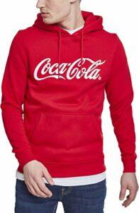 MERCHCODE Coca Cola Classic Hoody Sweatshirt Men's, Red, XS
