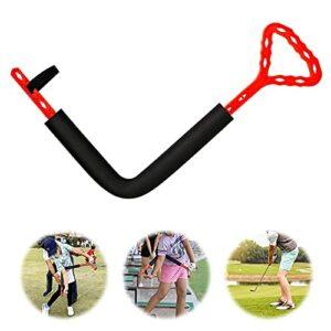MGCD L Type Golf Swing Formation Aide Bras de Posture Outil correcteur pour améliorer la charnière de Rotation de l'avant-Bras épaule Tourner à l'aide de l'entraîneur de Golf (Color : Red)