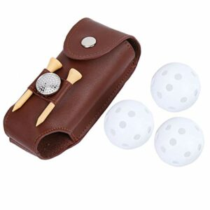 Mini Golf Belt Bag Brown for Outdoor Sport Training Golf Accessory for Gift for Golf Players