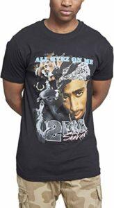 Mister Tee Herren Tupac Retro T-Shirt, Black, XXXL