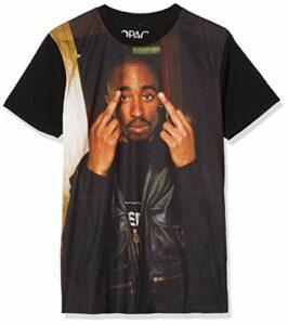 Mister Tee Herren Tupac Trust Nobody Tee T-Shirt, Black, XS