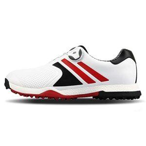 MJ-Brand Chaussures de Golf en Cuir pour Hommes – Chaussures de Golf imperméables pour Femmes, Baskets de Golf Unisexes