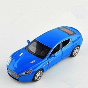 Modèle de voiture de marque 1:32 pour Aston Martin One-77 – En métal moulé sous pression – Pour enfants – Avec fonction de tirage – Musique – Lumière – Porte ouvrable (couleur : 2)