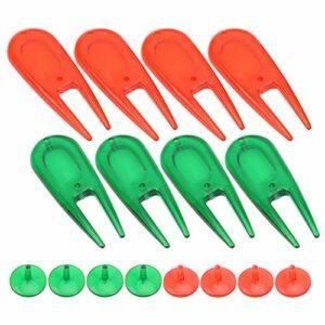 MOH Balle de Golf Divot Outils Pitch Fork-Golf Accessory-PE Balle de Golf en Plastique Divot Outils Pitch Fork Putting Green Kit de réparation avec marqueur de Balle