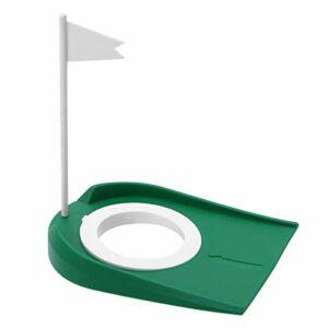 MOH Coupe de Golf avec Trou réglable Drapeau Blanc intérieur extérieur