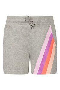 Mountain Warehouse Glitter Stripe Kids Short Gris 7-8 Ans