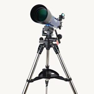 MOZUSA Télescope astronomique, Professionnel Stargazing HD Haute Puissance Night Vision Deep Space Telescope astronomique avec trépied, Prisme étanche antibuée