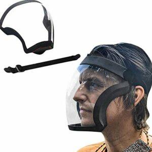 MPNP Écran de protection transparent, protection complète du visage, réutilisable, anti-buée et respirant