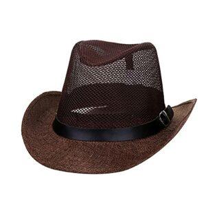 N A Chapeau De Paille Cowboy et Bandeau Chapeau De Cowboy Marron