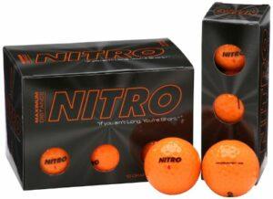 Nitro Max Distance Lot de 12 balles de Golf Orange