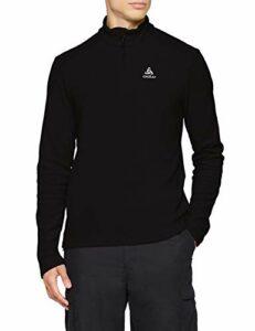 Odlo Midlayer 1/2 Zip BERNINA Sweaters Homme, Black, FR : L (Taille Fabricant : L)