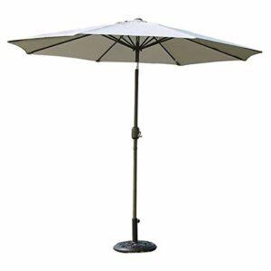 Parasol Parasol Parasol PARASOLS GARASE Patio Table de Table avec Inclinaison et manivelle, idéal pour Une Cour extérieure, marché Commercial de Plage, Camping, Piscine côté