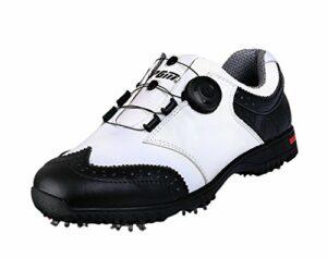 PGM Chaussures de Golf Imperméables en Cuir Véritable pour des Hommes avec Le Système de Lacet de Boa
