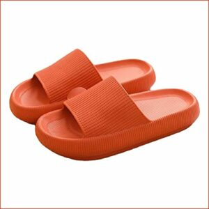 Pillow Slides Sandals Ultra-Soft Slippers Extra Soft Cloud Shoes Anti-Slip, Super Soft Home Slippers Non-Slip, Beach Thick Soled Shoes for Women and Men Slides Orange 38-39