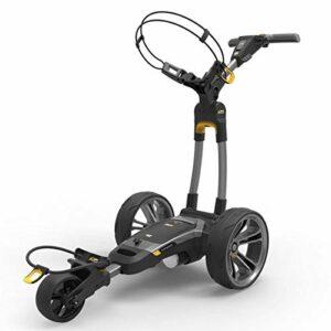 PowaKaddy CT6 Chariot de golf unisexe 36 trous au lithium Gris acier Taille unique