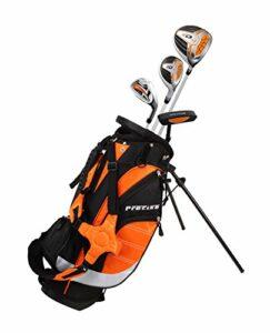 Precise XD-J Junior Ensemble complet de clubs de golf pour enfants – 3 groupes d'âge garçons et filles – main droite et gauche, Orange Ages 3-5, Main droite