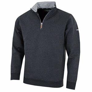 Pro-Quip Pull thermique de golf en jersey avec fermeture éclair ¼ pour homme L charbon