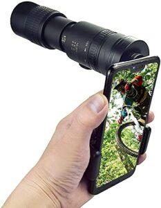 Puissant Portée Monoculaire Longue 4K 10-300x40mm Super Télé-Toploto Zoom Telescope Monoculaire Portable pour Smartphone Zoom (Color : A)