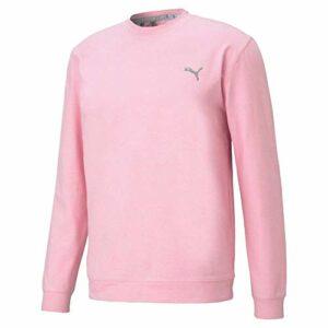 Puma Golf Men's Standard Cloudspun Crewneck, Pink Lady Heather, XX-Large