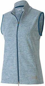 PUMA Golf Women's 2020 Cloudspun Warm Up Vest Sans manches, Digi-Blue Heather, L Femme