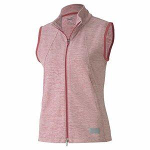 PUMA Golf Women's 2020 Cloudspun Warm Up Vest sans Manches, Rose Wine Heather, Tripe Extra Large Femme