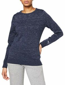 PUMA W Crewneck Sweater Pull Femme Peacoat Heather FR : S (Taille Fabricant : S)