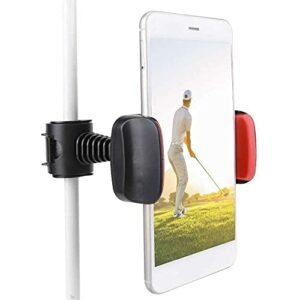 qiaohuan shop Support de téléphone portable avec clip pour enregistrement de golf, swing pour entraînement au golf