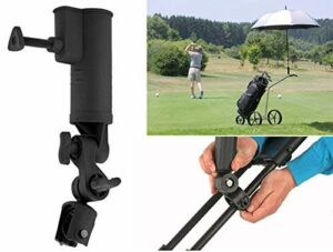 QIYAT Porte-Parapluie pour Chariot de Golf, Angle et Largeur Interne réglable – Taille Universelle pour Poussette de vélo, Landau, Fauteuil Roulant