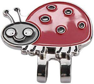 RosieLily Capuchon De Chapeau De Golf De Golf en Acier Inoxydable Durable avec Accessoire De Marqueur De Balle Magnétique(Size:Coccinelle,Color:Rouge)