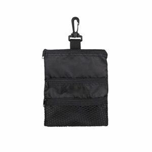 Sac de golf pour balle de golf – Sac de rangement portable avec fermeture éclair et crochet pour attacher le sac pour les amateurs de golf – Pour homme et femme