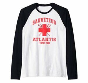 Sauveteur Atlantis l'Empire Perdu – Emblème Rouge Manche Raglan