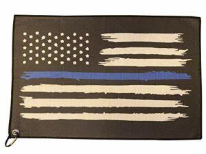 Serviette de golf en microfibre – Serviette de golf avec mousqueton Motif drapeau américain
