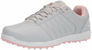 Skechers womens Pivot Spikeless Golf Shoe, Light Gray/Pink, 11 US