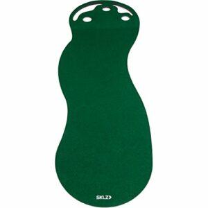 SKLZ Putting Green 3-Feet par 9-feet–par trois Intérieur Tapis de putting Émule véritable Sensation de Vert avec véritable Rouleau de surface pour une meilleure donnant Practise–construire en tout