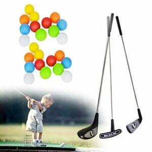 SOWOFA Jouets de golf – Différentes combinaisons d'accessoires – Tiges de golf pour les sports d'équipe – Ensemble de golf en métal pour enfants