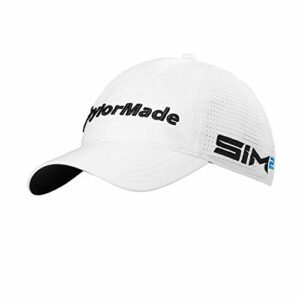 TaylorMade LiteTech Tour Casquette de Golf Homme, Blanc, Taille Unique