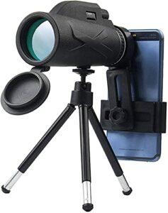Télescope Monoculaire 80×100 Haute Puissance HD Monoculaire + Smartphone Porte-Smartphone Et Trépied Monoculaire Imperméable avec pour Oiseau Regarder, Camping, Randonnée, Voyages